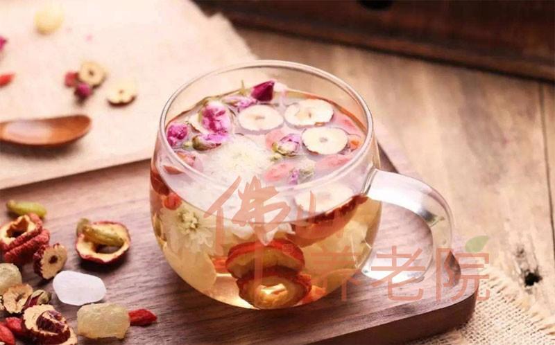 老人养生降脂汤水之山楂花茶